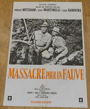 Affiche cinéma MASSACRE POUR UN FAUVE - ROBERT MITCHUM, PHIL KARLSON - 120X80