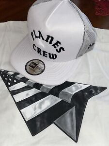 ROC NATION WHITE OLD SCHOOL PLANES CREW HAT W BACKING PAPER PLANES JAY-Z