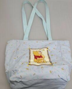 Disney Diaper Bag Tote Winnie the Pooh Infant Blue Baby Bottle Bag Beach Tote