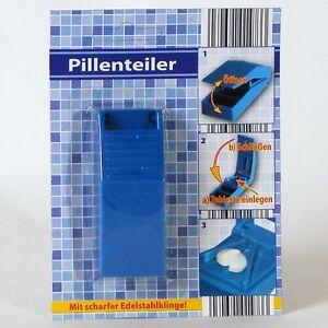 Pillenzerteiler 8,5x3x2 cm Medikamententeiler Pillenteiler Tabletten Teiler Neu