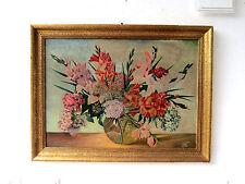 Antikes Blumenstilleben Gemälde Ölgemälde Stillleben Monogr. FK Rahmen vergoldet