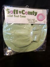 Soft N Comfy Green Toilet Seat Cover, New in Package