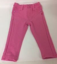 Babaluno Baby Girls Pink Trousers Age 6-9 Months Jersey Jean Style Elastic