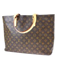 Auth LOUIS VUITTON Luco Tote Shoulder Bag Monogram Leather Brown M51155 16MF927