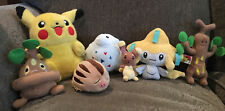 Lot of 7 Pokemon plushies - Pikachu, Jirachi, Buneary, etc.- great condition