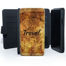 Travel Vintage World Map  Leather Phone Case