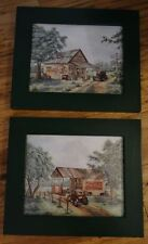 Coca-Cola Wall Pictures With Green Frames Set Of Two