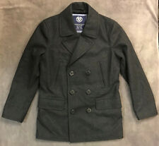 NEW AMERICAN EAGLE AEO GRAY MENS MILITARY PEACOAT COAT JACKET SZ M MEDIUM
