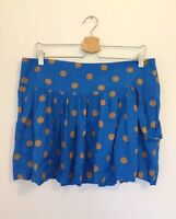 Therapy skirt UK 14 Blue Spotty Polka Dot Short House of Fraser NEW WITH TAGS