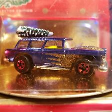 1996 Holiday Hot Wheels 1955 Chevy Nomad Special Edition Car in Collector Gold