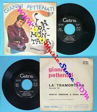 LP 45 7'' GIANNI PETTENATI La tramontana Voglio tornare a casa mia no cd mc dvd*