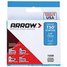 Genuine Arrow 10mm T50 Staples - 1250 Pack