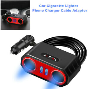Car Cigarette Lighter One for Two Car Multifunctional Cell Mobile Phone Charger