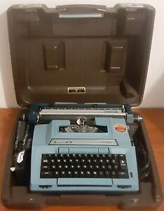 Smith Corona Coronet XL 6E Vintage Electric Typewriter Blue + Case Tested Used