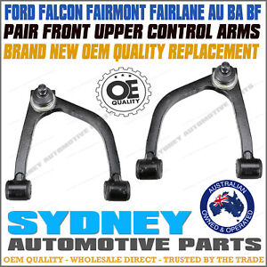 FORD FALCON AU BA BF FRONT UPPER TOP CONTROL ARMS WITH H-DUTY BALL JOINTS BUSHES