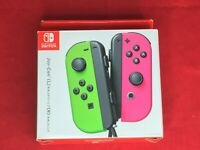 NEW Nintendo Switch splatoon 2 Joy-Con Neon Green and Neon Pink controller Japan