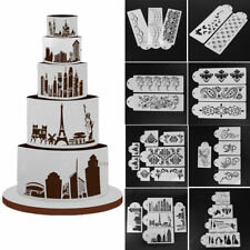 DIY Cake Cookie Fondant Lace Flower Side Baking Wedding Stencil Decorating Tools