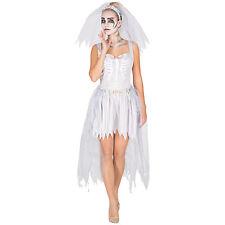 Disfraz vestido para mujer novia esqueleto espíritu fantasma novia damas adulto