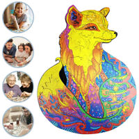 Adults Kids Wooden Jigsaw Puzzles Games Unique Animal Jigsaw Pieces Toys Gifts