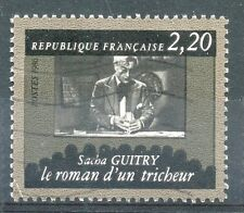 STAMP / TIMBRE FRANCE OBLITERE N° 2435  CINEMATHEQUE / SACHA GUITRY