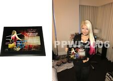 WWE ALEXA BLISS HAND SIGNED AUTOGRAPHED PLAQUE TLC WITH PIC PROOF COA