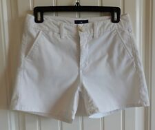 AE American Eagle Women White Stretch Super Hi Rise Shortie Shorts SZ 2