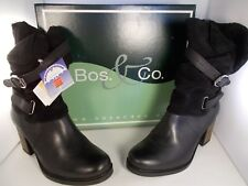 BOS & Co Borne Black Leather Waterproof BOOTS Women's Size 8 US