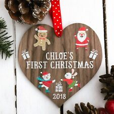 Personalised Babys my first christmas tree bauble decoration 1st gift present