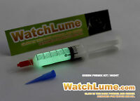 LUMINOUS PAINT FOR WATCH HANDS SYRINGE RELUME KIT PAINT LUMINOUS RELUME USA