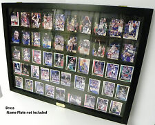 Card Display Case for Ungraded Baseball Cards 50 Black