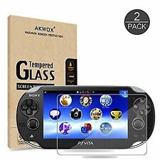 Pack of 2 Screen Protector PS Vita 1000 Akwox Premium HD Clear 9h Tempered Glass