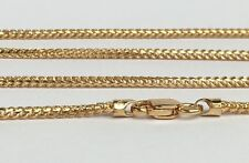 18k Solid Yellow Gold Franco ItalyChain Necklace Diamond Cut 18inches, 6.89grams