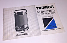 Owner's Manual for the classic Tamron 35-135mm f3.5-4.2 zoom (Model 22A), 1985
