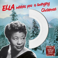 Ella Fitzgerald WISHES YOU A SWINGING CHRISTMAS Holiday WHITE COLORED VINYL LP