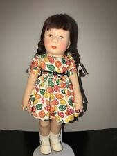 """Doll 13"""" Kathe Kruse all original made in Germany Brown Eyes and Braids"""