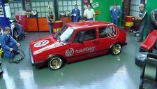 VW Golf I GTI Rot ,VW Racing  1982   mit BBS Echtaluminium Felgen 1:18 NEU