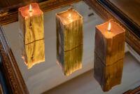 Sandalwood  Pillar Candle Home Decor Wedding Gift Long Time Burning