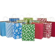 "12 Assorted Designs  - NEW Hallmark 13"" Large Christmas Gift Bags, Craft Paper"