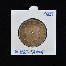 1905 Edwardvs VII One Penny - Bronze - Very Fine Condition