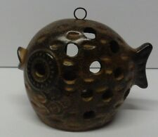 Ceramic Pottery Fish Tea Light Candle Holder Outdoor Garden Patio Indoor
