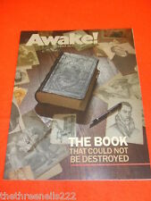 AWAKE! - THE BOOK THAT COULD NOT BE DESTROYED - DEC 2011