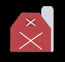 QuicKutz Lifestyle Crafts 4x4 Single Die BARN Country, Farm, Animals REV-0216-S