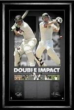 Ricky Ponting and Michael Clarke Hand Signed Framed Double Impact Limited Print
