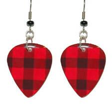 RED EKG HEART DANGLE EARRINGS EH013