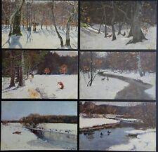 More details for set of 6 rural stud artist peter paul muller c1905 postcard by raphael tuck 6782