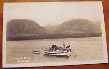 1930's Japanese-American Fishermen Kahului Harbor Maui Hawaii AZO RPPC