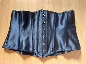 Corset story, underbust steel boned corset, black, size 22, sexy, goth, bargain