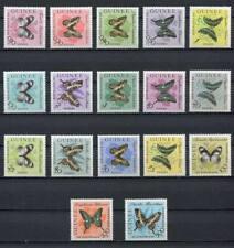 27207) GUINEA 1963 MNH** Nuovi** Butterflies Farfalle 17v