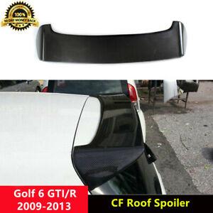 Golf 6 GTI Roof Spoiler Carbon Fiber Wings for Volkswagen Golf MK6 GTI R 2009-13