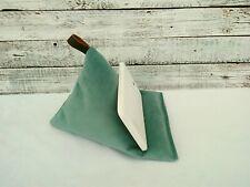 NEW Handmade Tablet Velvet Mint Green Pillow Ipad Cushion Stand Kindle beanbag